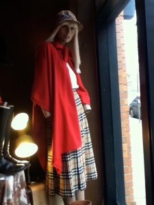 Vintage Burberry skirt, from Everyman's Treasure