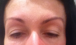 My brows, after one session with Mzia