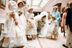 India, at Princess Diana's Wedding. She is second from the left.