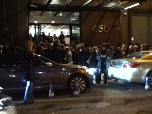 Chaos Outside Milk Studio, Thursday Night, 9:20p.m. - No one's getting in at this point!