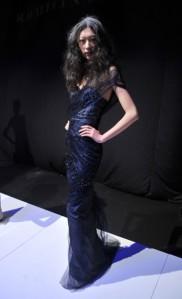 Rafael Cennamo's Sapphire Blue Siren Gown, the fall 2012 Collection
